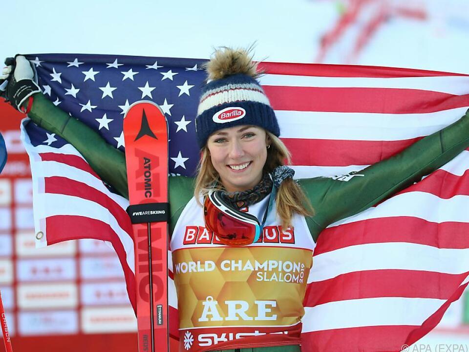 Im Damen-Weltcup führt überlegen Mikaela Shiffrin