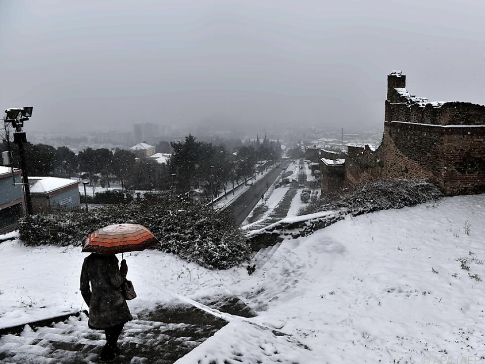 In Griechenland gibt es momentan schwere Schnee- und Regenfälle