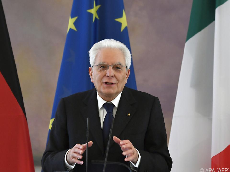 Italiens Präsident Sergio Mattarella zeigte sich besorgt