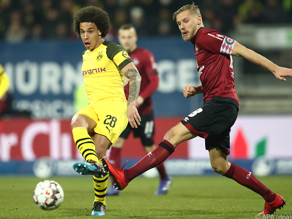 Keine Tore beim Spiel des 1. FC Nürnberg gegen Borussia Dortmund