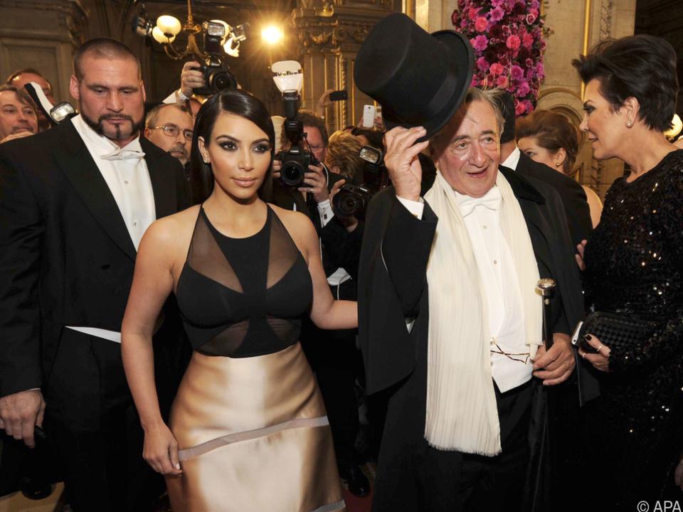 Kim Kardashian war 2014 Lugners Gast