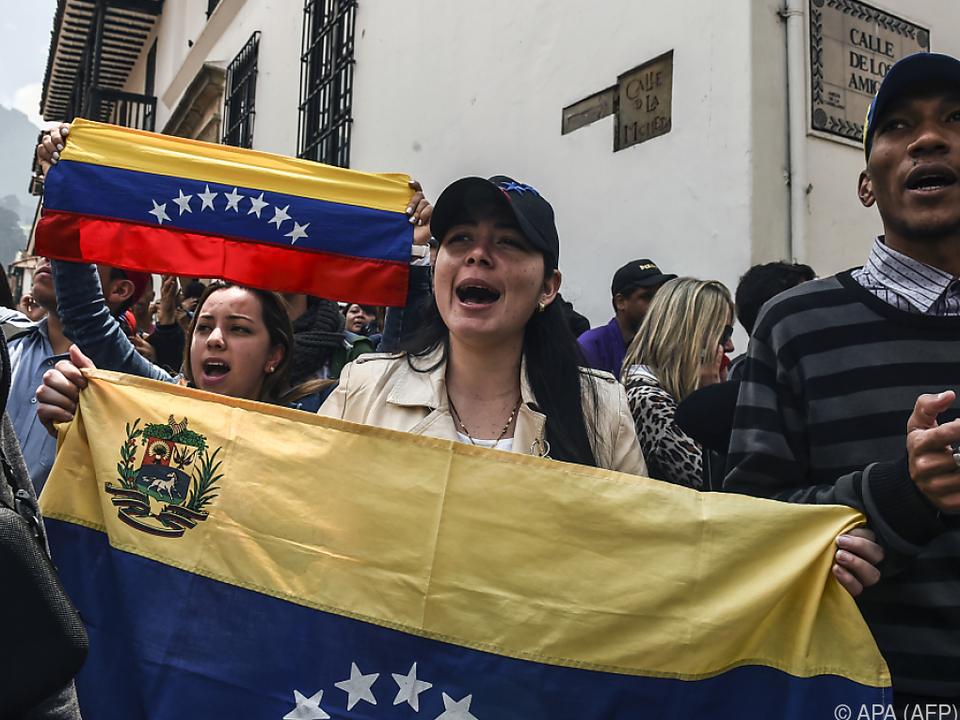 Kundgebung von Oppositions-Anhängern in Bogota