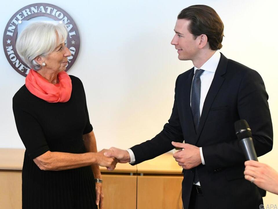 Kurz traf Lagarde zum Abschluss der USA-Reise