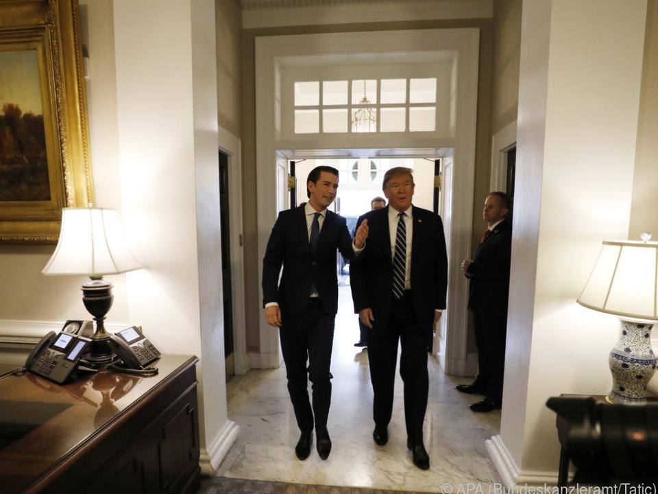Kurz war bei Trump im Weißen Haus