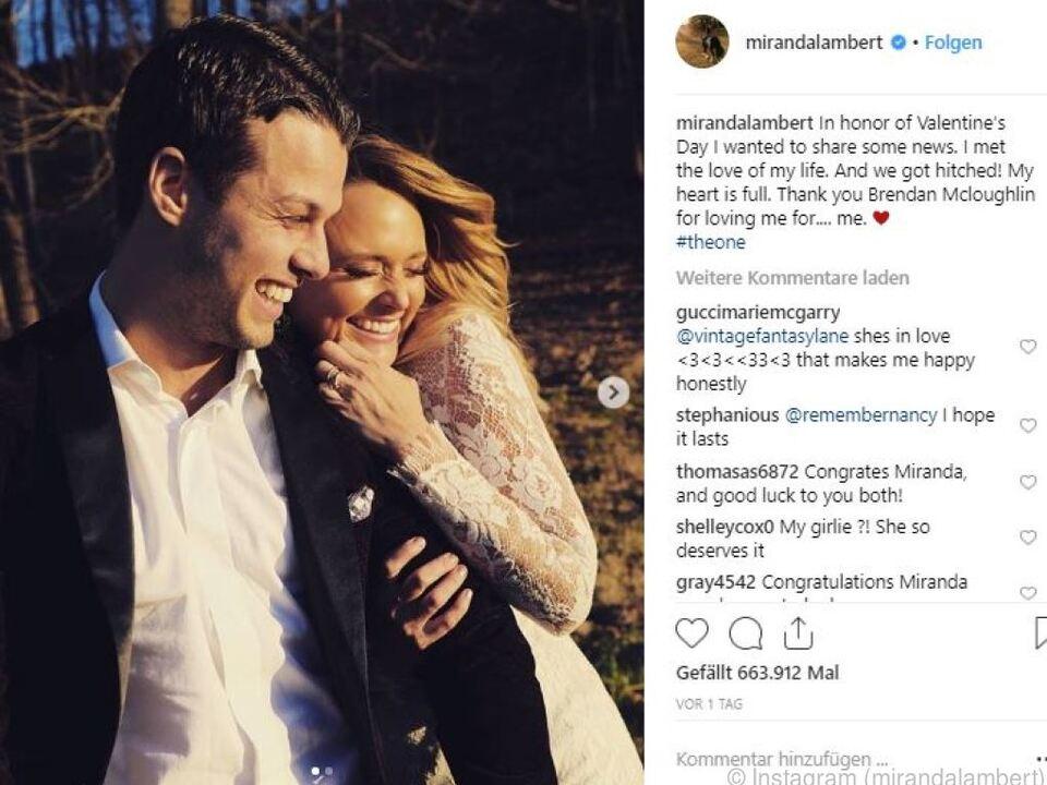 Lambert veröffentlichte auf Instagram Hochzeitsbilder