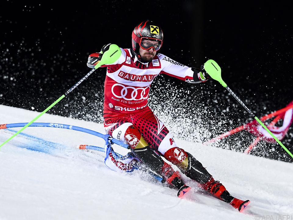 Marcel Hirscher bleibt im Slalom die Nummer 1