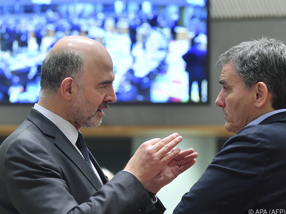 Moscovici (li.) plädierte für ein \