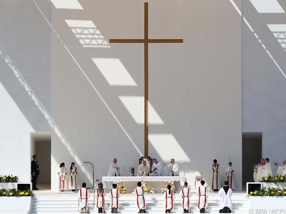 Papst Franziskus feierte eine Messe unter freiem Himmel