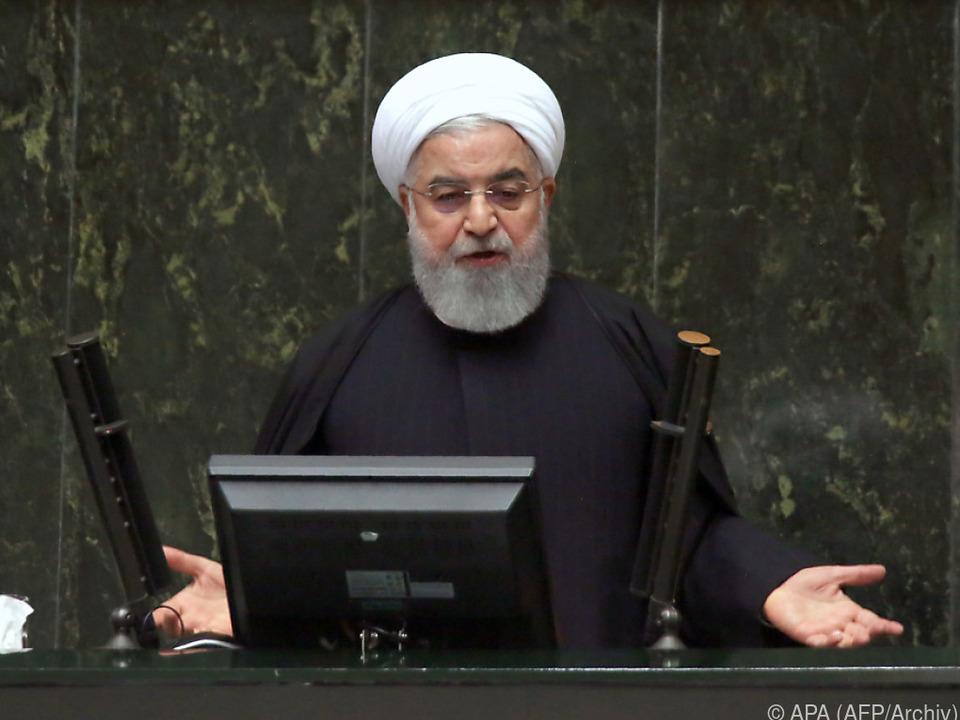 Präsident Rouhani will das Raketenprogramm vorantreiben