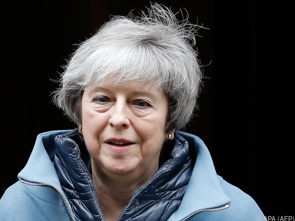 Premierministerin May sprach zu den Abgeordneten des Unterhauses