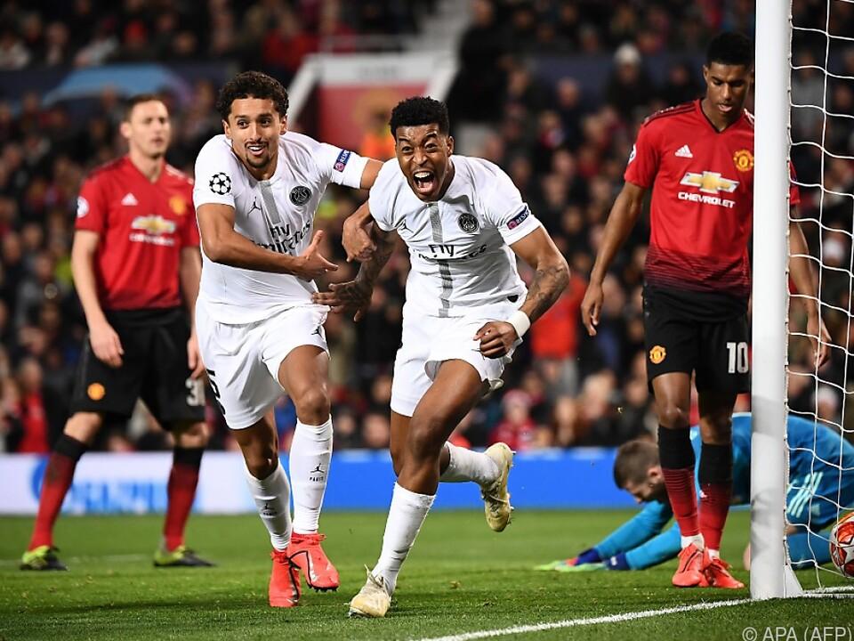 Presnel Kimpembe brachte Paris SG bei Manchester United in Führung