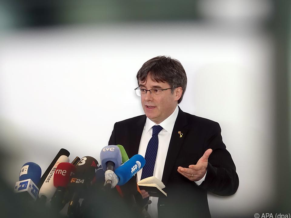 Puigdemont gab in Berlin eine Pressekonferenz