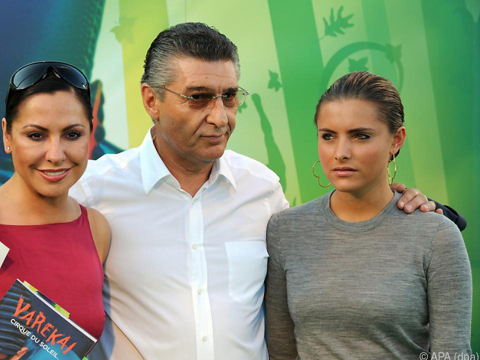 Rudi Assauer mit Simone und Sophia Thomalla