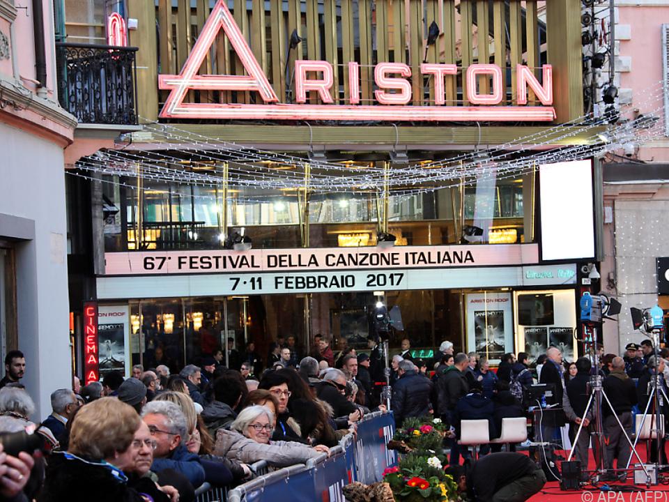 Sanremo Musikfestival im Teatro Ariston