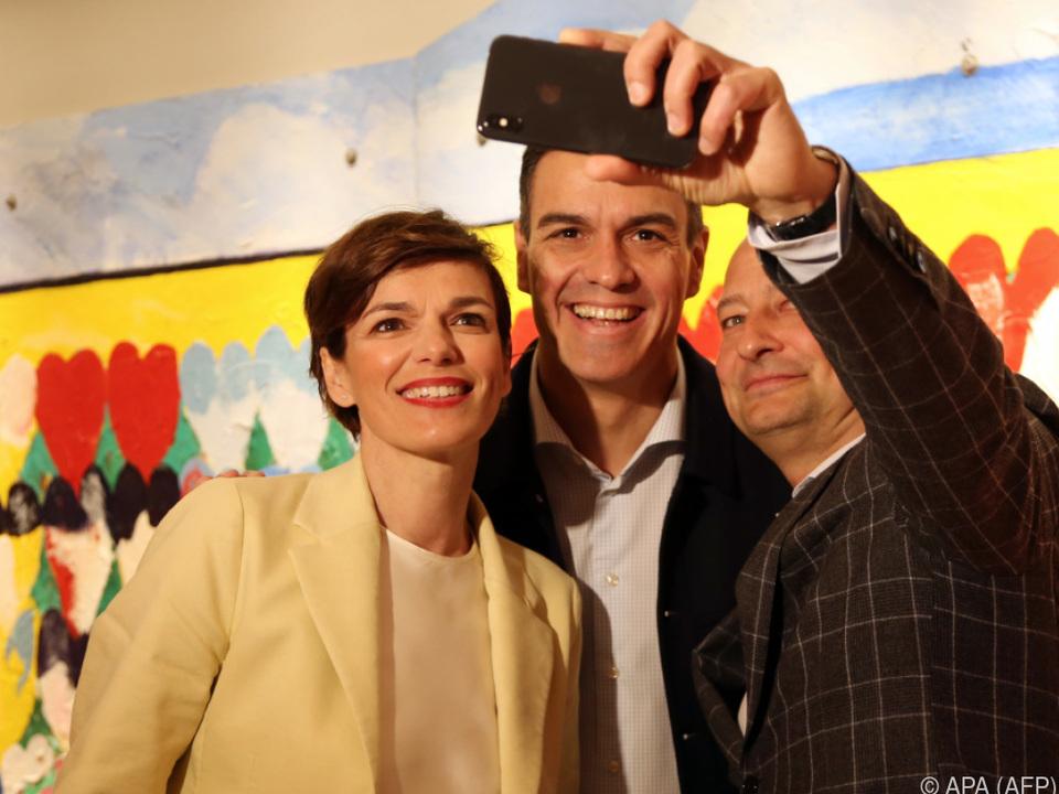 SPÖ-Delegation mit spanischem Regierungschef Sanchez