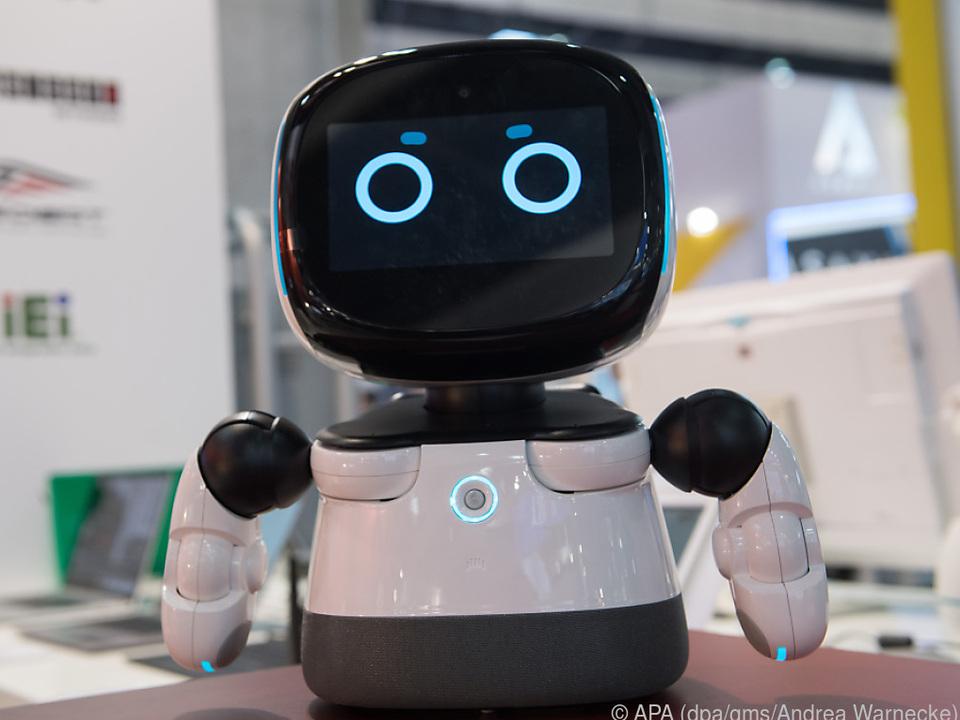 Roboter Kebbi kann Kindern Geschichten erzählen und Sprachunterricht geben