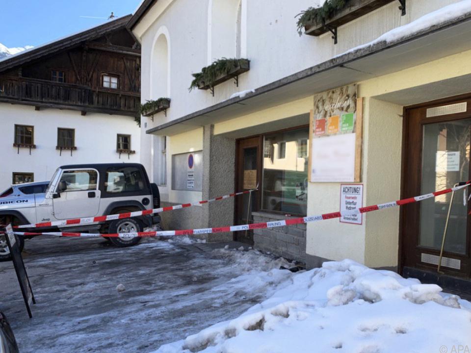 Tatort im Ortszentrum von Sautens