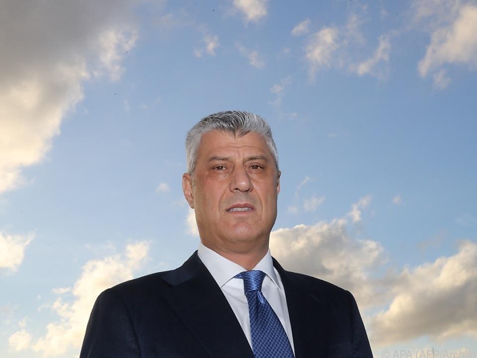 Thaci brachte erneut Gebietsaustausch mit Serbien ins Spiel