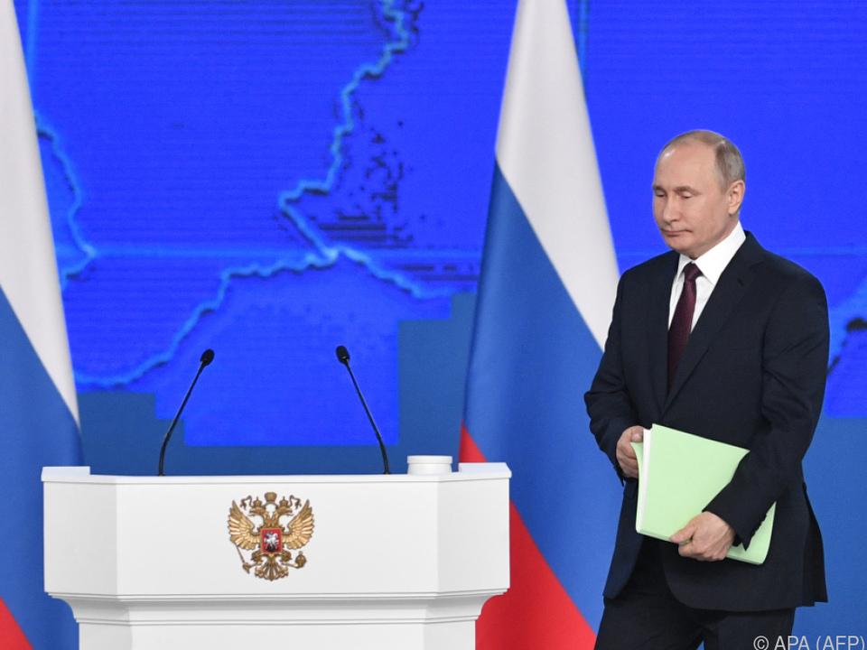 Trotz neuer Raketen sucht Putin freundschaftliche Beziehungen