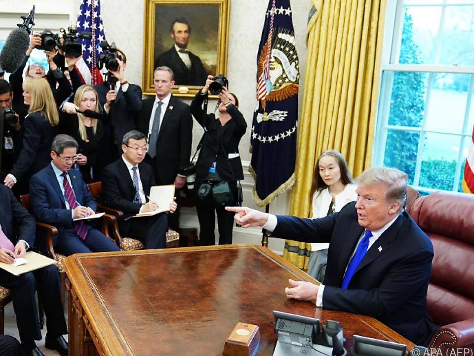 Trump empfing Liu He im Oval Office