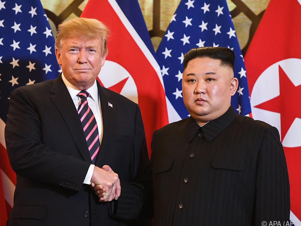 Trump setzt große Hoffnung auf Treffen mit Kim Jong-un