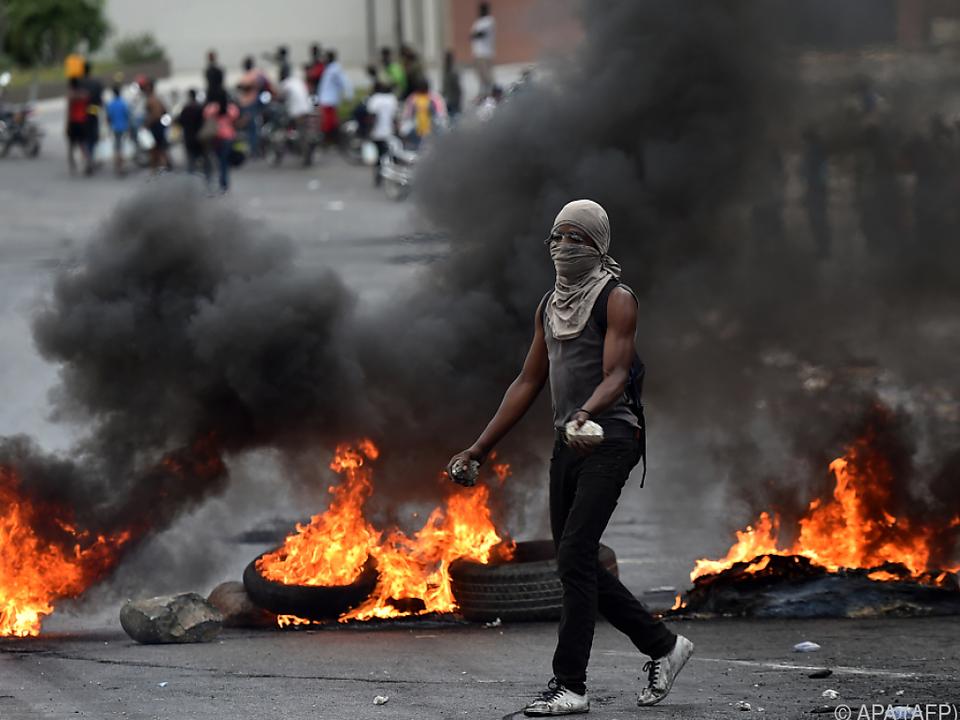 Zum Teil gewaltsame Proteste in Haiti