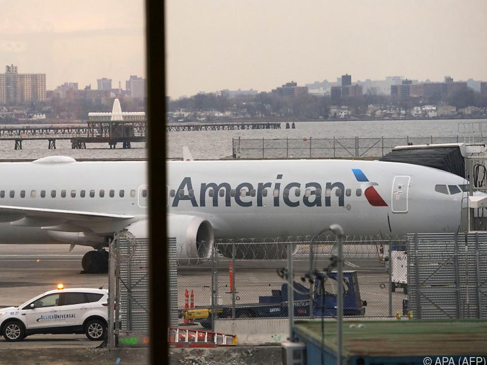 737 Max der Fluglinie American Airlines