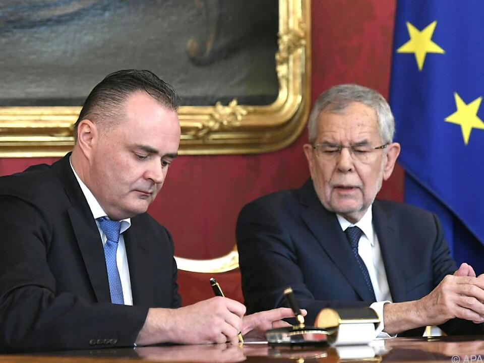 Angelobung durch Bundespräsident Alexander Van der Bellen