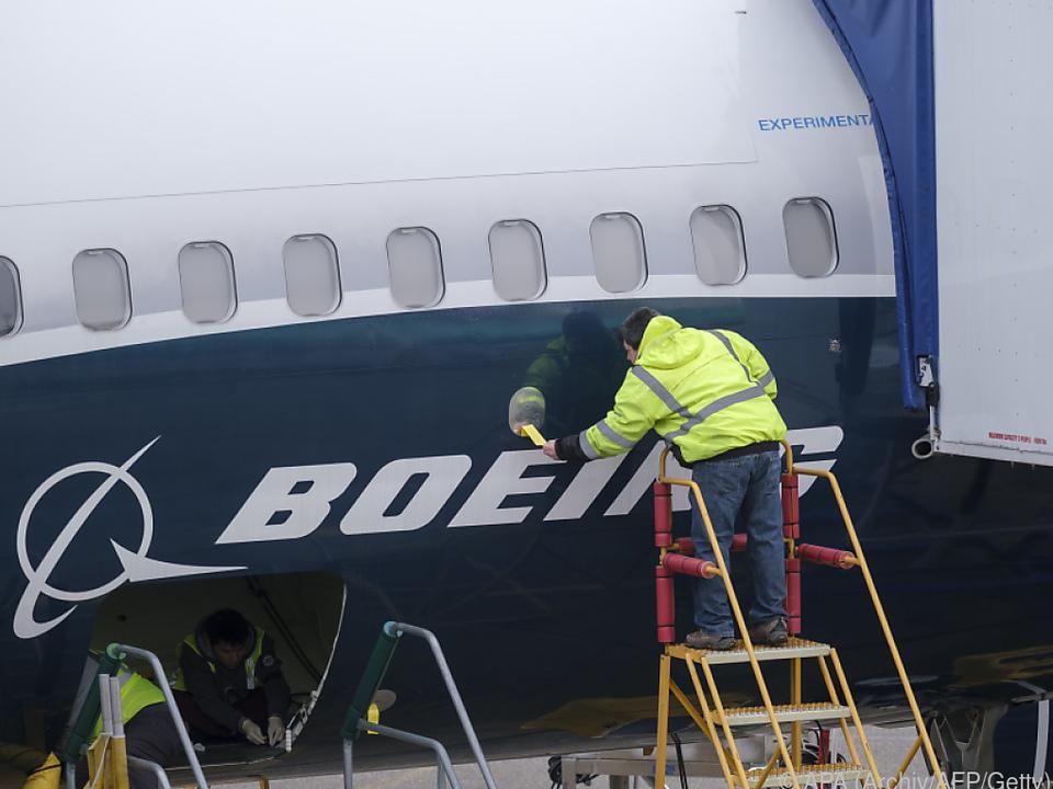 Arbeiten an einer Boeing 737 Max