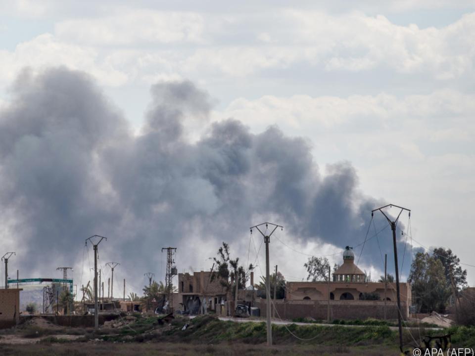 Baghouz ist die letzte Siedlung in der Hand der Extremistenmiliz