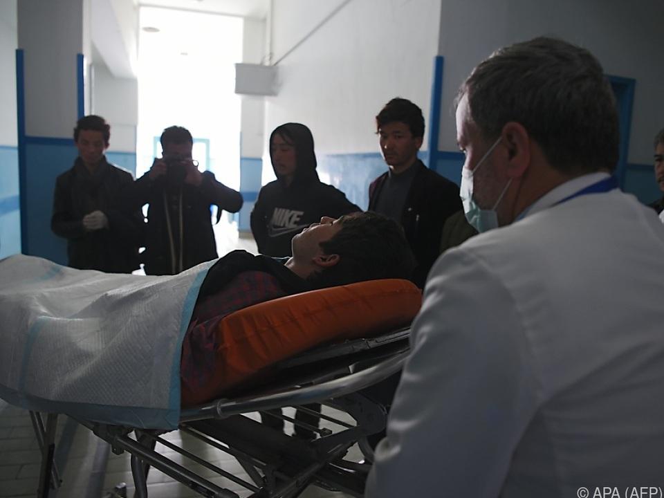 Bei dem Anschlag wurden zahlreiche Menschen verletzt