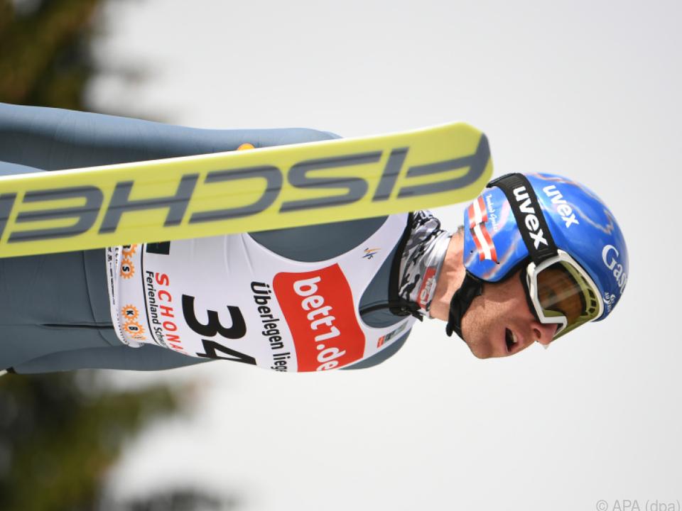Bernhard Gruber war nach dem Springen noch Vierter