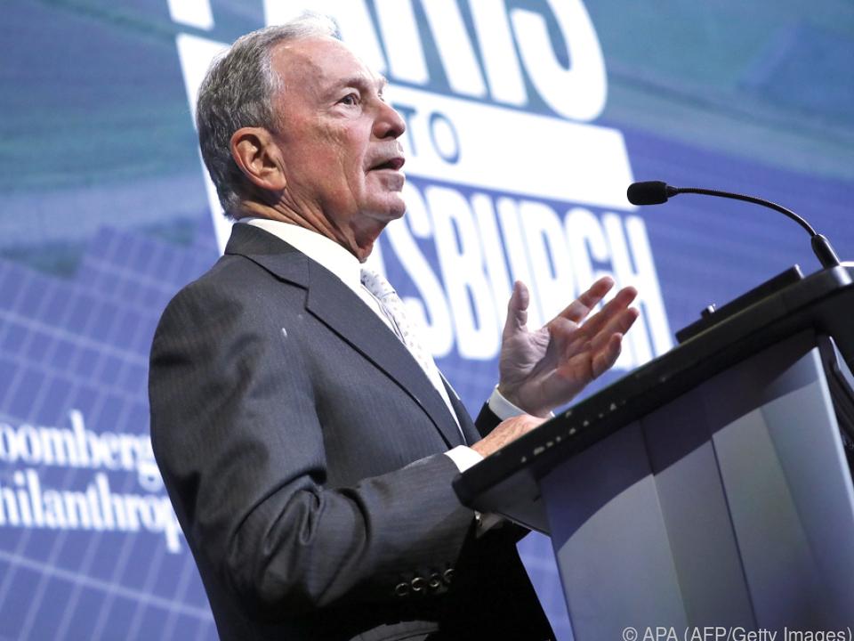 Bloomberg sieht zu viele demokratische Konkurrenten am Start