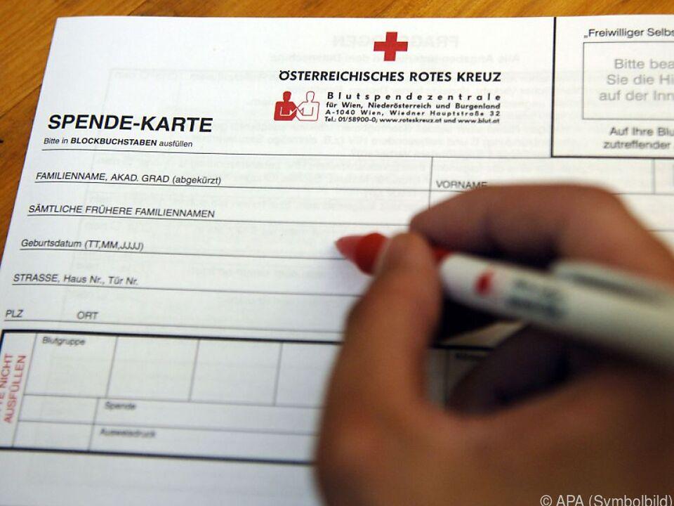 Blutspender füllte offenbar Fragebogen unvollständig aus