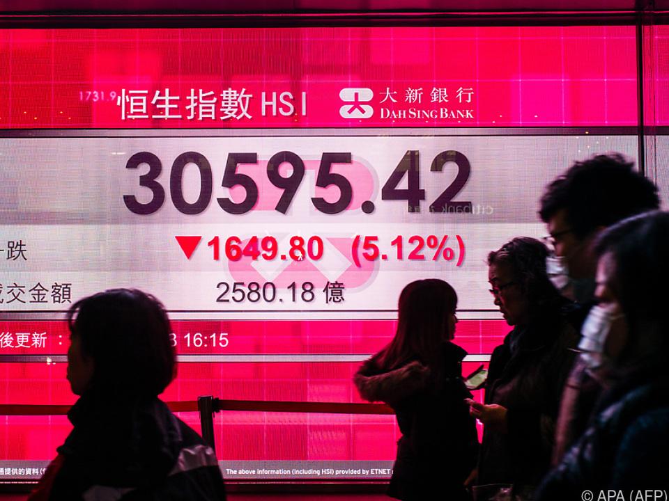 Chinas Direktinvestitionen gingen um 40 Prozent zurück