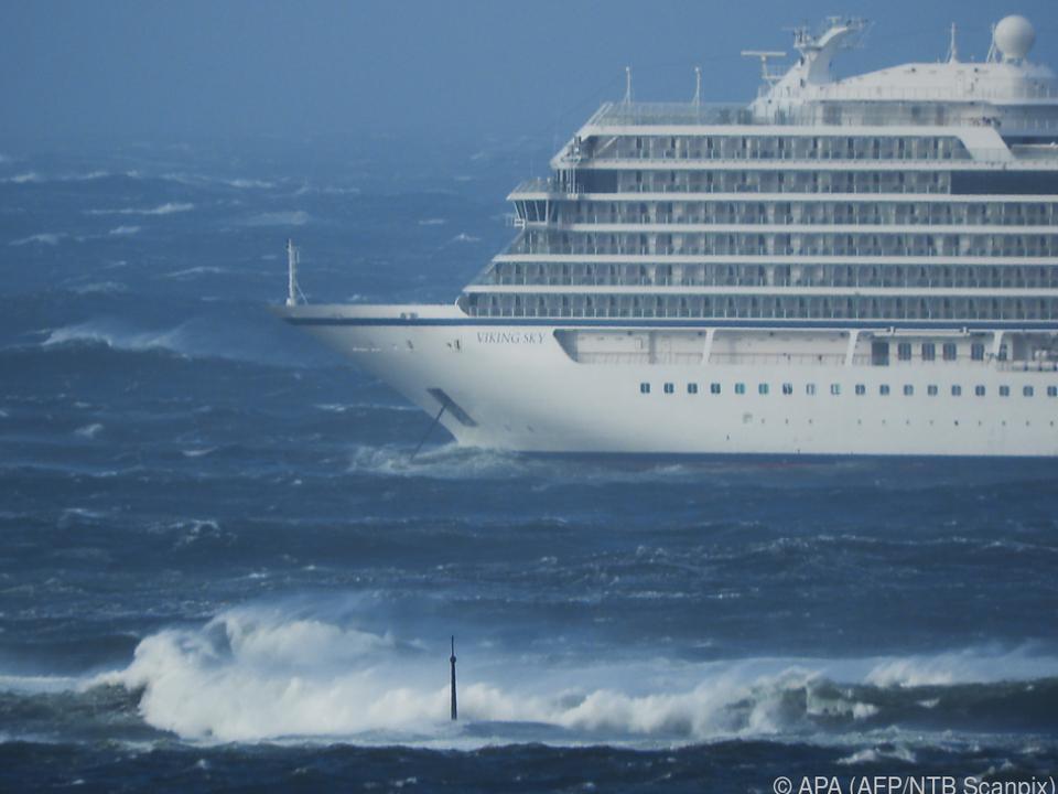 Das Kreuzfahrtschiff war in Seenot geraten