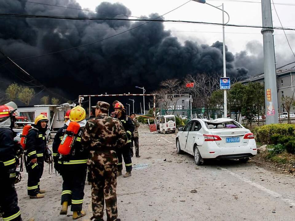 Das Unglück ereignete sich in der Stadt Yancheng