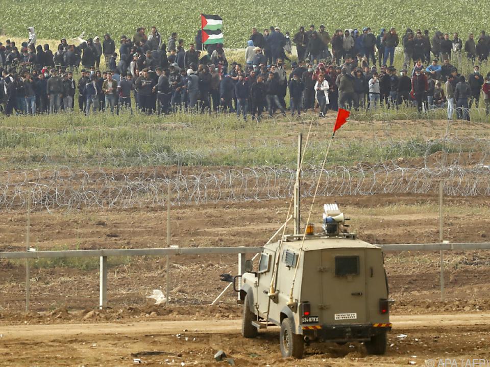 Demonstration an der Grenze zum Gazastreifen