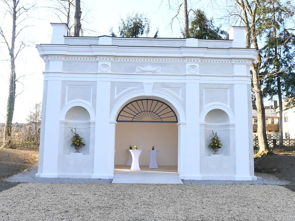 Der umgestaltete Sisi-Pavillon in Wels