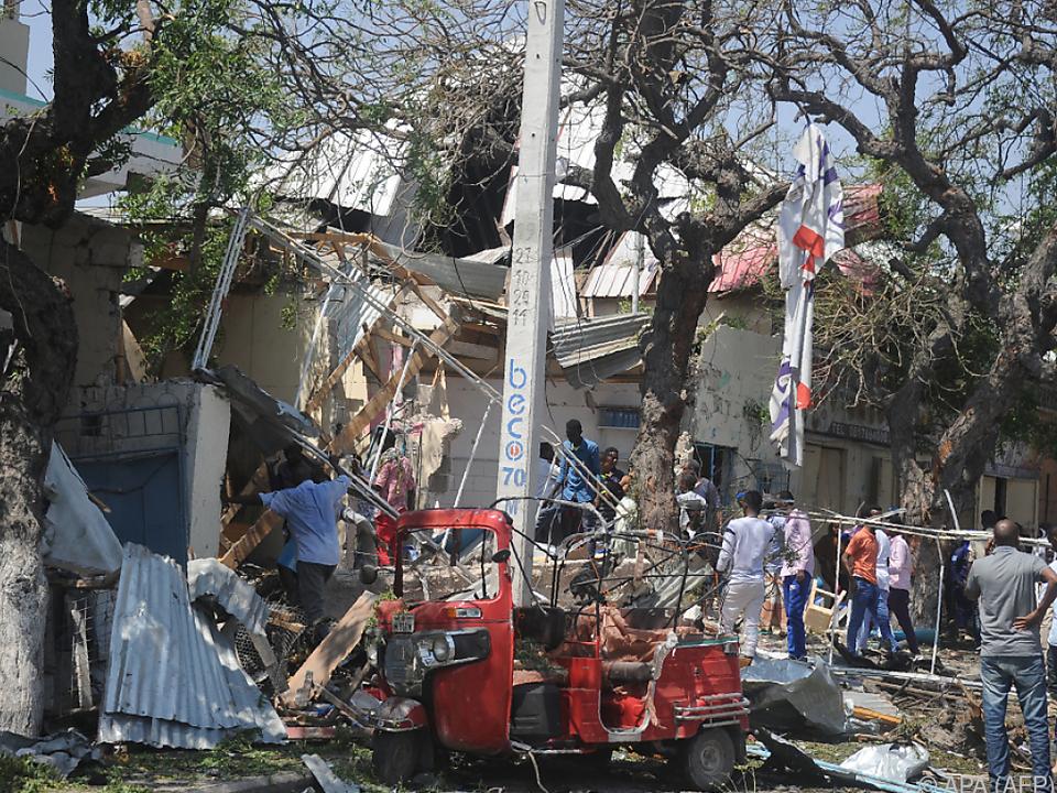 Die Explosion ereignete sich in der Nähe eines Restaurants