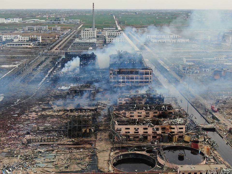 Die Explosion passierte in einem Chemiewerk in Ostchina
