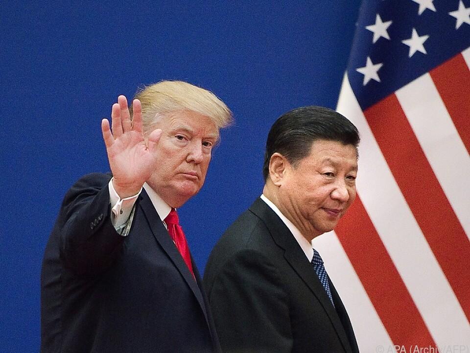 Die Präsidenten Donald Trump und Xi Jinping