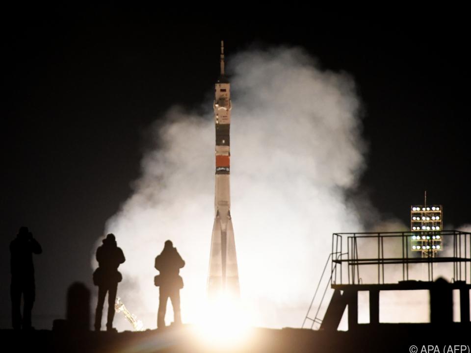 Die Sojus-Rakete hob planmäßig ab