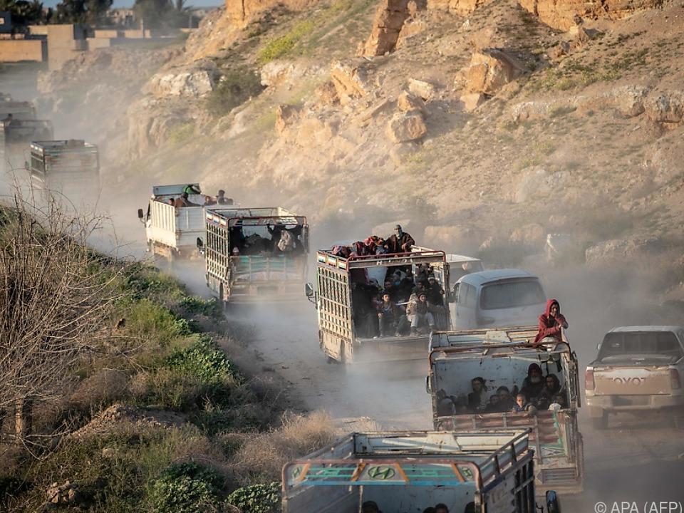Die Stadt Baghouz in Ost-Syrien wird heftig umkämpft
