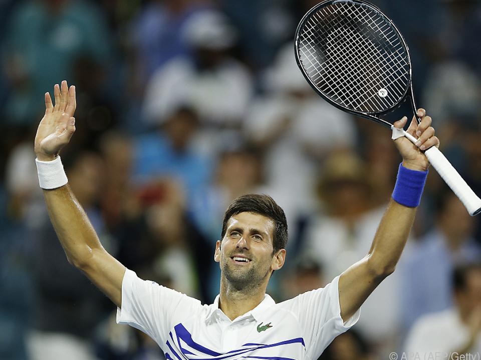 Djokovic ließ sich feiern