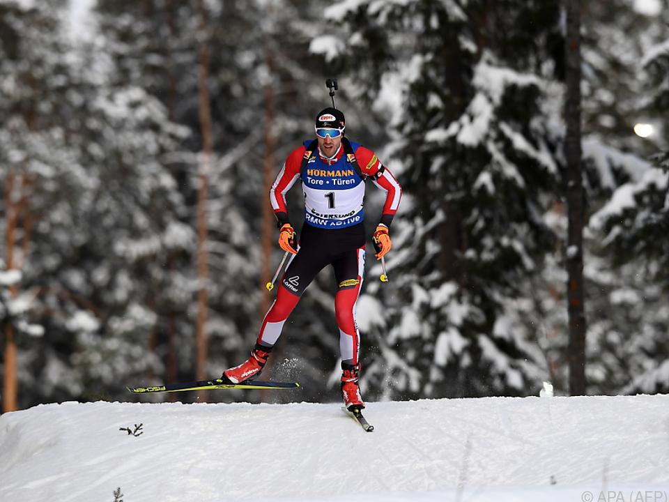Dominik Landertinger geht in der Staffel an den Start