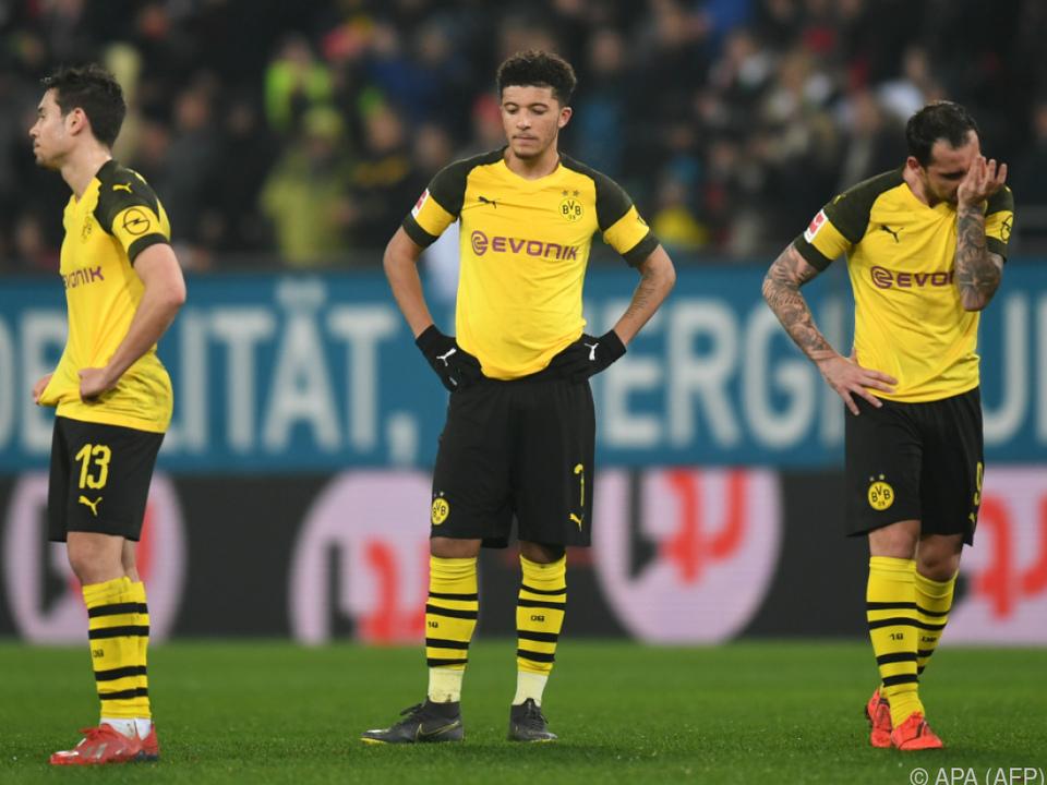 Enttäuschung bei Borussia Dortmund