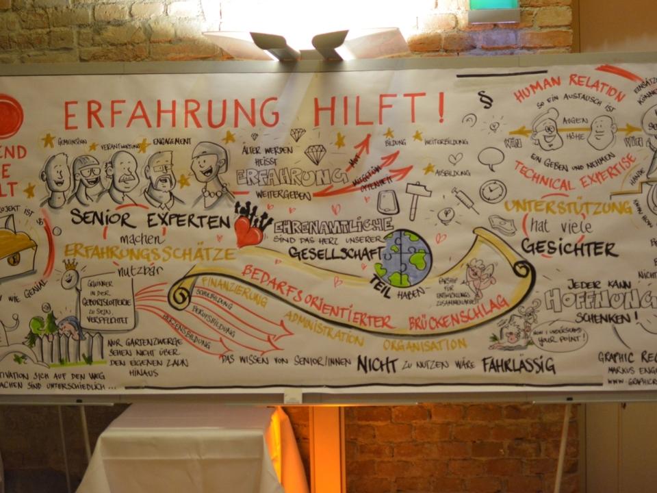 Erfahrung hilft! - Zeichnung von Markus Engelberger