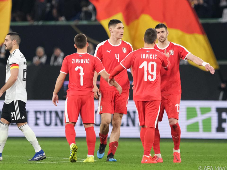 Es war keine Glanzvorstellung im Test gegen Serbien