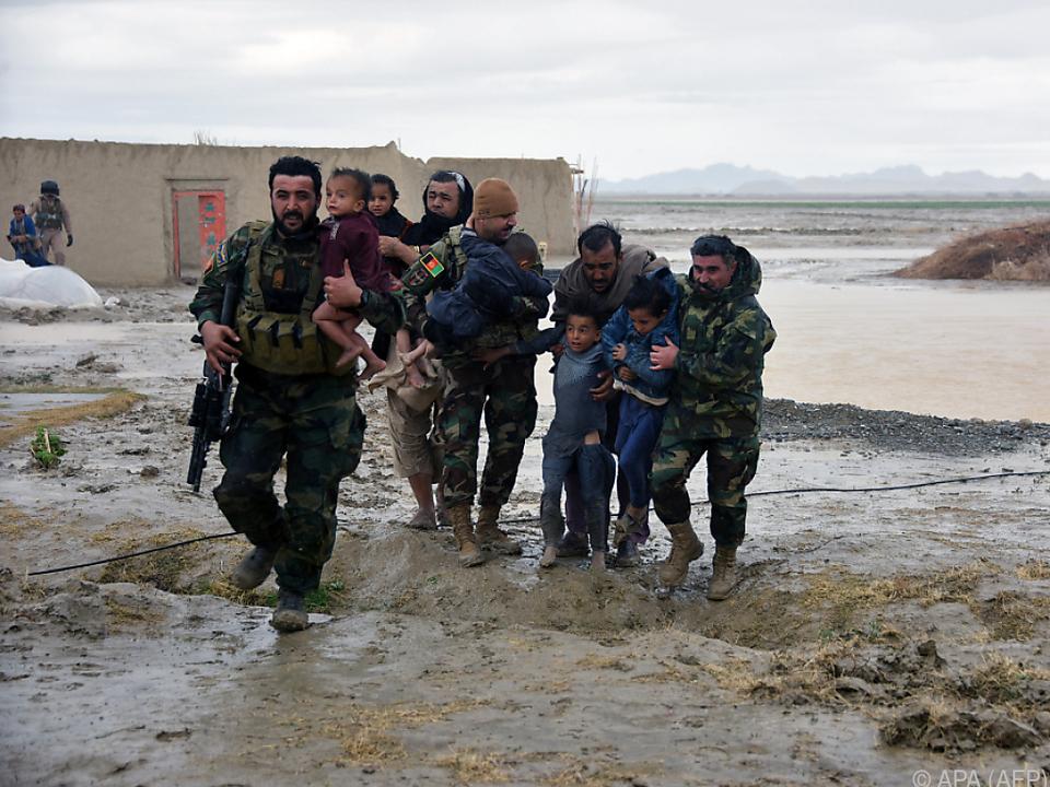 Familien wurden von der Armee gerettet
